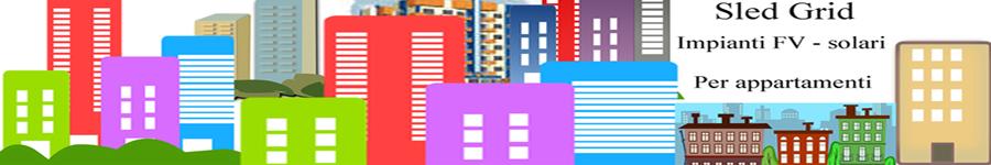 Sled grid impianto FV per appartamenti